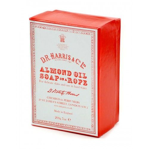 D R Harris Almond Oil Soap On A Rope (200g)