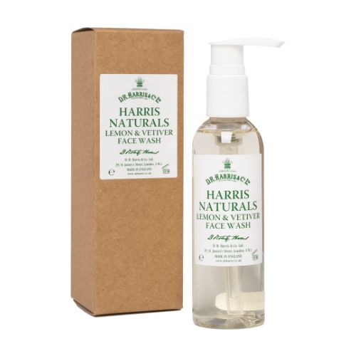 D R Harris Naturals Lemon & Vetiver Face Wash (100ml)