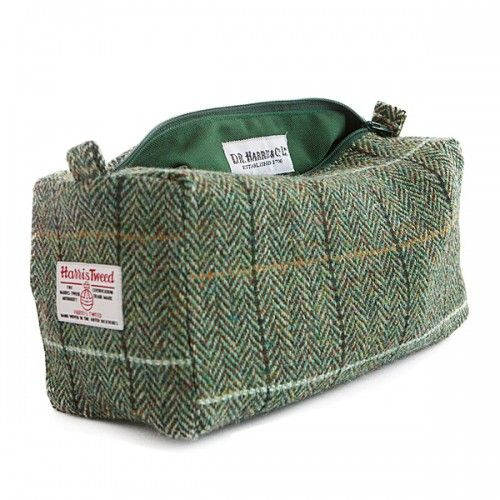 D R Harris Tweed Country Wash Bag