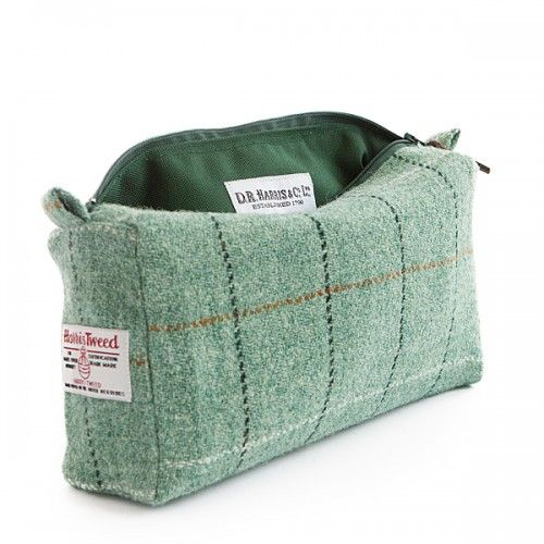 D R Harris Tweed Wash Bag - Town