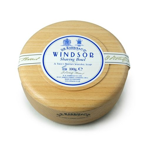 D R Harris Wooden Shaving Bowl - Beech - Windsor (100g)