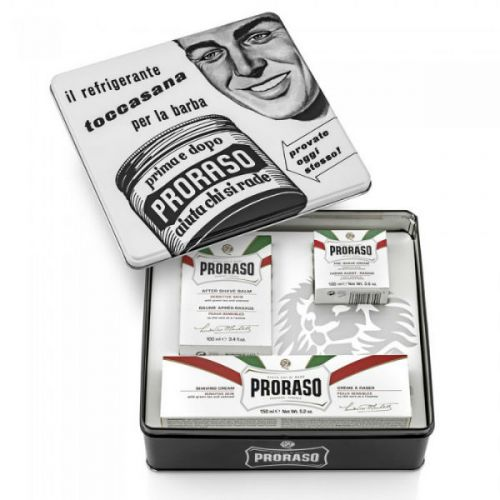 Proraso Vintage Collection Toccasana - White Selection - Pre Shave Cream (100ml), Shaving Cream (150ml), After Shave Balm (100ml)