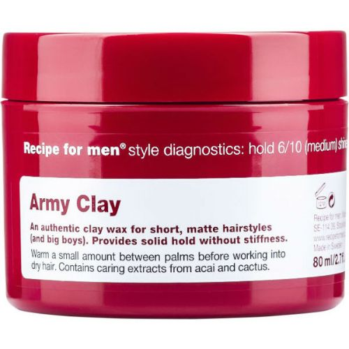 Recipe for Men Army Clay Wax (80ml)