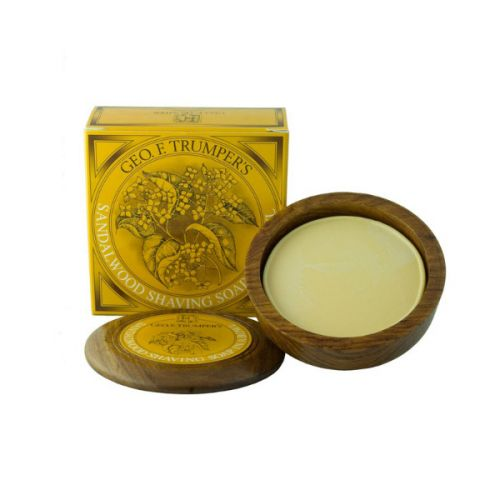 Geo F Trumper Sandalwood Shave Soap Wooden Bowl