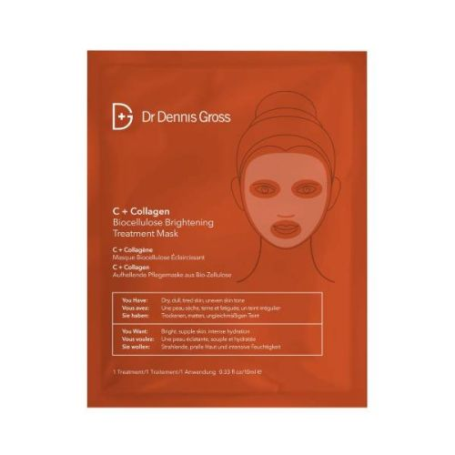 Dr Dennis Gross C+ Collagen Biocellulose Brightening Treatment Mask