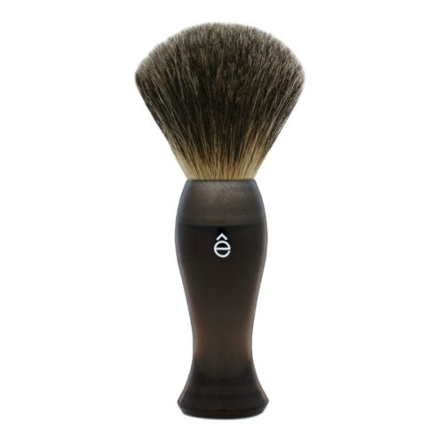 eShave Fine Badger Hair Shave Brush - Smoke