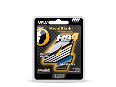 HeadBlade 4 Blade Replacement Blade Kit (4 Pack)