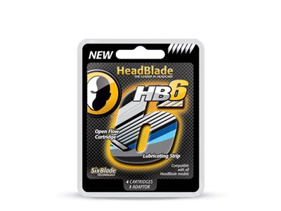 HeadBlade 6 Blade Replacement Blade Kit (4 Pack)