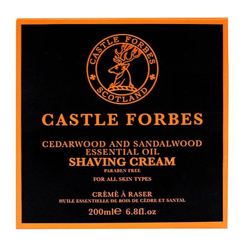 Castle Forbes Cedarwood & Sandalwood Essential Oil Shave Cream 200ml