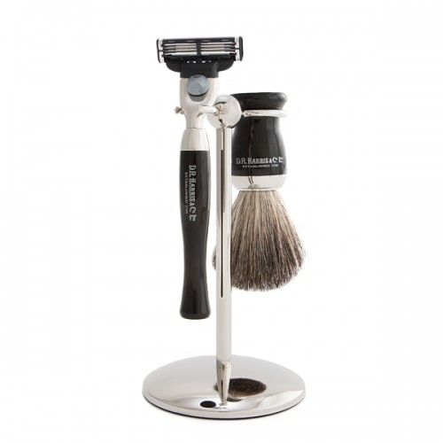 D R Harris Wet Shave Starter Set - Ebony