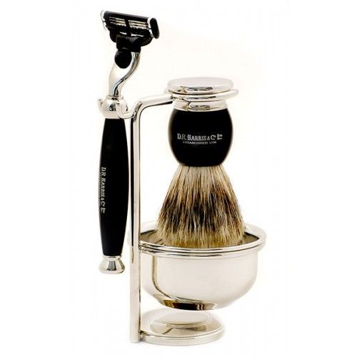 D R Harris 4-Piece Luxury Shaving Set - Ebony