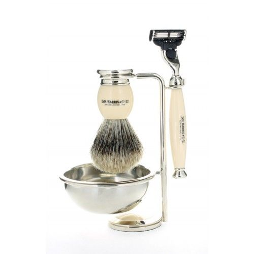 D R Harris 4-Piece Luxury Shaving Set - Ivory
