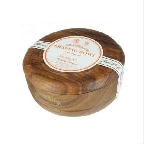 D R Harris Sandalwood Wooden Shave Bowl - Mahogany (100g)