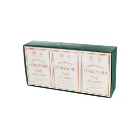D R Harris Sandalwood Bath Soap Set (3 x 150g)