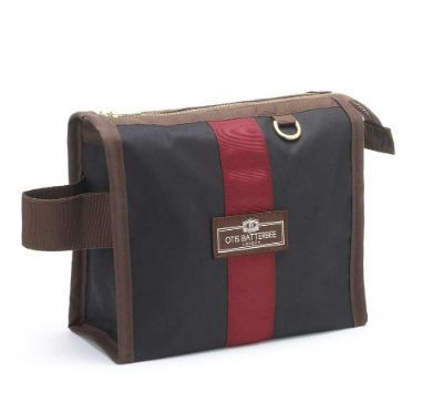 Otis Batterbee Small Grand Tour Wash Bag - Black Waxed