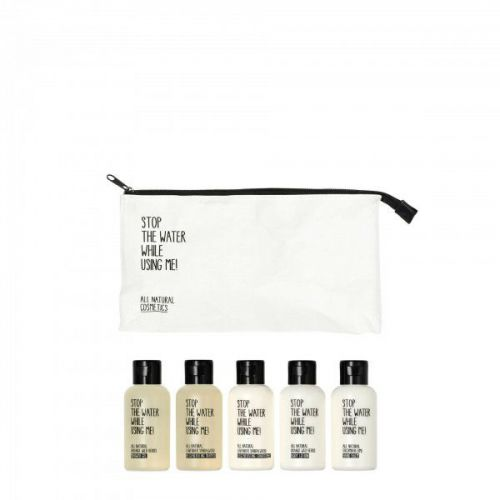Stop The Water While Using Me All Natural Cosmetics Travel Kit with Wash Bag (5 x 60ml)