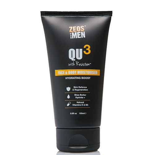 Zeos for Men QU3 Face & Body Moisturiser (150ml)