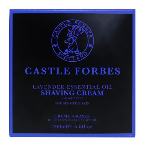 Castle Forbes Lavender Essential Oil Shaving Cream 200ml