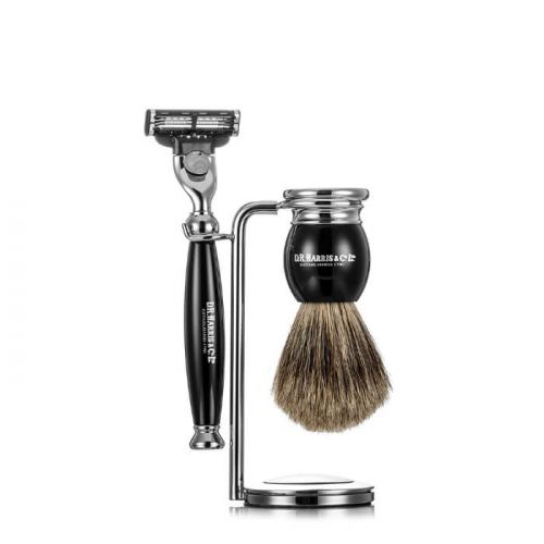 D R Harris 3 Piece Traditional Shaving Set - Ebony