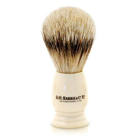 D R Harris Ivory Super Badger Shaving Brush (S2)