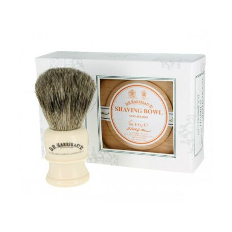 D R Harris Sandalwood Shave Gift Set (Beech Wood)