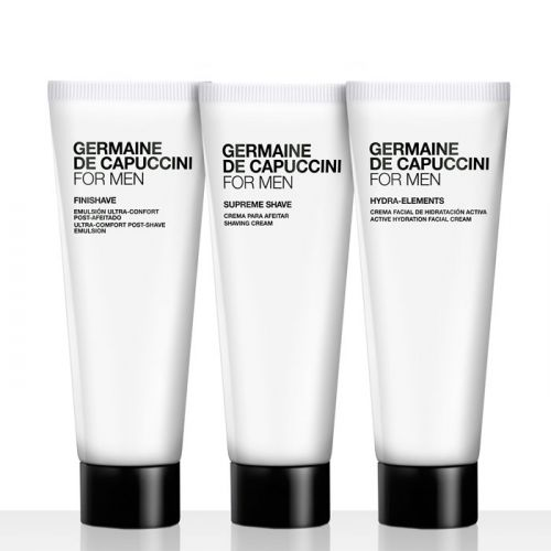 Germaine de Capuccini Travel Set - Active Hydration Facial Cream (30ml), Ultra-Comfort Post-Shave Emulsion (30ml), Shaving Cream (30ml)
