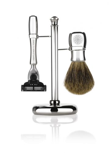 Gentlemen's Tonic Mayfair Shaving Set - Chrome