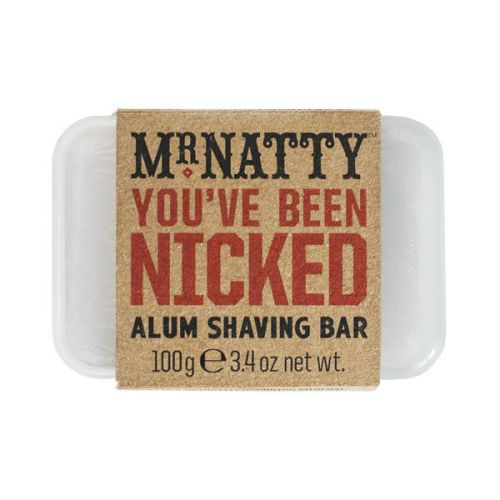 "Mr Natty ""You've Been Nicked"" Alum Shaving Bar"