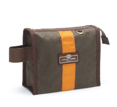 Otis Batterbee Small Grand Tour Wash Bag - Olive Waxed