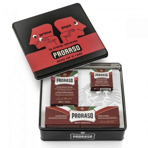 Proraso Vintage Collection Primadopo - Red Selection - Pre Shave Cream (100ml), Shaving Cream (150ml), After Shave Lotion (100ml)