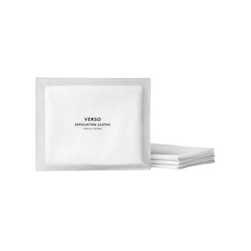 Verso Exfoliating Cloths - 3 Muslin Cloths