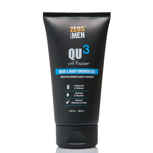 Zeos for Men QU3 Hair & Body Shower Gel (150ml)